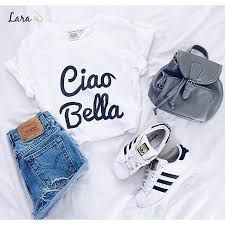 Outfits for teens School Outfits, Outfits For Teens, Girl Outfits, Casual Outfits, Cute Outfits, Fashion Outfits, Casual Dresses, Ootd Fashion, Paris Fashion