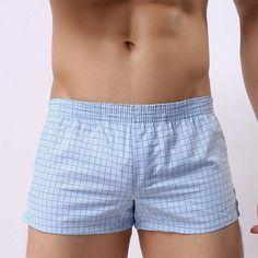 Soutong Men Underwear Boxer Shorts Trunks Slacks Cotton Men Cueca Boxer Shorts Underwear Printed Men Shorts Home Underpants