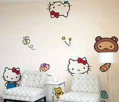 Blik x Hello Kitty Wall Decals: Hide & Seek