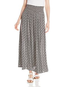 Roxy Juniors Mixed Up Printed Maxi Skirt True Black Diamond Zigs Large Medium * Click on the image for additional details.