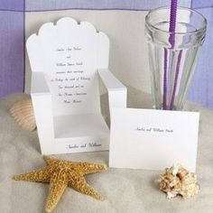 beach wedding invites, cute but simple and cheap to ship..