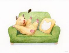 Japanese Artist Paints Adorable Watercolours Of Pet Hamster Doing Human Things Cute Animal Drawings, Cute Drawings, Japanese Hamster, Baby Hamster, Cute Hamsters, Love Illustration, Mini Canvas, Japanese Artists, Animal Photography