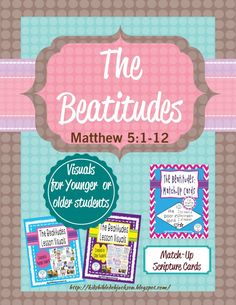 The Beatitudes lesson, visual & more