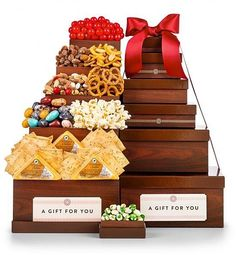 Gourmet Food Gift Basket for Dad Father's Day Desserts Cheese Nuts Candy Snacks #GiftTree