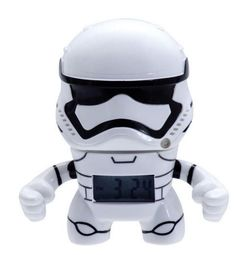 """Star Wars™ 3.5"""" Stormtrooper Alarm. In this Star Wars Stormtrooper Alarm Clock, your aim will never be true as you fight for the First Order. This clock features an LCD display and different alarm settings, making it a great way to rise in a galaxy far away. Comes with two AG13/LR44 batteries."""