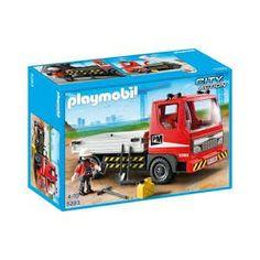 Playmobil 5283 - Ciężarówka Budowlana Wywrotka dla Dzieci od lat 4. 42 elementowy zestaw playmobil 5283 zawiera również figurkę, łopatę, kilof, gaśnicę, kanister