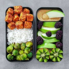 replace the rice with another veggie. Maybe stewed tomato - Bento - Vegan Lunches, Healthy Snacks, Healthy Eating, Vegetarian Recipes, Cooking Recipes, Healthy Recipes, Cooking Tips, Junk Food, Foods To Avoid