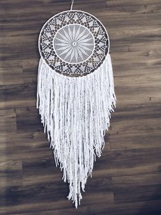 Doily Dream Catcher - White Doily Dream Catcher - White Boho Dream Catcher…