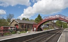 When the students take the train to Hogsmeade, they actually get off at a functioning station in Goathland in North Yorkshire. The biggest change in the movie? After production you'll see Hogwarts was added into the skyline in the background.