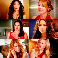 Ladies of Grey's Anatomy and their fabulous hair.