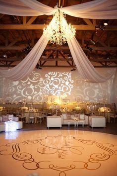 Sophisticated wedding reception decor