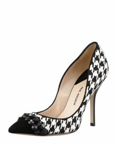 c2cd42a74952 Paul Andrew Sohelia Houndstooth Pointed-Toe Pump