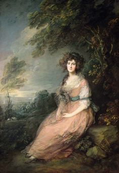 """Mrs. Richard Brinsley Sheridan"" (ca.1785-86) von Thomas Gainsborough (geboren am 14. Mai 1727 in Sudbury, Suffolk, gestorben am 2. August 1788 in London), englischer Maler."
