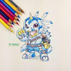 Gabumon by It's Birdy ☺ Digimon 02, Digimon Tattoo, Gatomon, Onesies, Digimon Digital Monsters, Digimon Adventure Tri, Pokemon Fusion, Anime Kawaii, Neon Genesis Evangelion