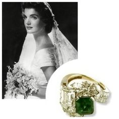#ThrowbackThursday Did you know that in the mid 1950's, emeralds were the most popular choice for engagement rings? The trend began in 1953, when JFK proposed to Jackie and gave her this ring. #emeraldring #engagementring #JackieKennedy #JohnFKennedy