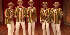 """Video: """"Sexy Back"""" Barbershop Quartet Style — Jimmy Fallon's Timberweek continues with the most un-sexy cover of """"Sexy Back"""" I've ever heard."""