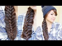 M Easy Woven Fishtail Braid Hairstyle | Hair Tutorial - YouTube