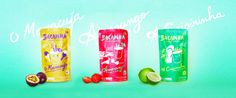 Innovative #plastic pouch #packaging for Bacanha Brasilian cocktails separates the liquid from the fresh fruit.