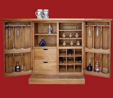 Bar 2 usi deschis mobila lemn masiv