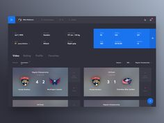 Yoursportagent Interface by Cuberto
