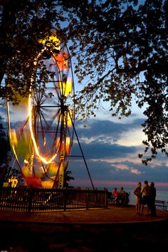 Firehouse Winery @ Geneva-on-the-lake, Ohio.  Ride this ferris wheel with a glass of wine in your hand, where else can you do that?