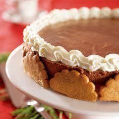 Koristele suklainen juustokakku jouluiseksi piparkakuilla. Cake Cookies, Tiramisu, Pie, Baking, Ethnic Recipes, Desserts, Food, Drinks, Torte