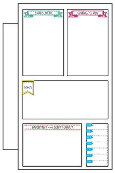 Weekly To Do List. Print this free weekly to do list planner printable. It's the perfect free planner insert to keep track of your to dos each week. There are 4 options available. To Do Planner, Free Planner, Planner Layout, Blog Planner, Planner Pages, Weekly Planner, Happy Planner, 2015 Planner, Planner Journal
