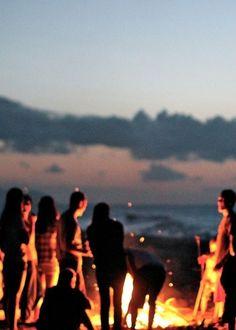 Beach Favorites - Bonfires - Step 4a - Good people. Great conversations.