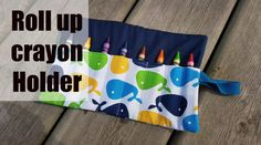 Crayon Roll Holder | Charmed By Ashley