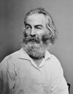Walt Whitman as photographed by Mathew Brady, c.1860.
