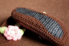 Add non slip to crochet or knit slippers!!