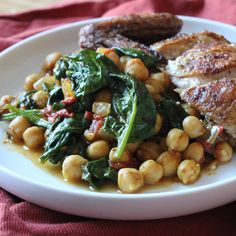 Spicy Chickpeas with Tomatoes and Spinach   Runaway Apricot