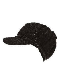 Matalan - Sparkle Baker Boy Hat Black Baker Boy 37174c707ac4