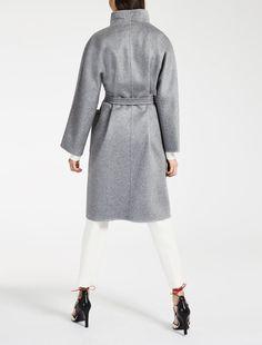 "Cashmere coat, turquoise - ""LILIA"" Max Mara"