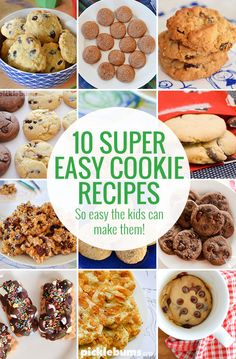 Our All Time Favourite Super Easy Cookie Recipes - so easy the kids can make them Easy Cookie Recipes, Baking Recipes, Sweet Recipes, Dessert Recipes, Desserts, Biscuit Cookies, Biscuit Recipe, Easy Family Meals, Kids Meals