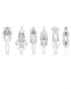 Fashion Sketchbook - sculptural fashion design drawings; lineup; fashion portfolio // Caterina Ciuffoletti