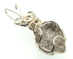 Herkimer Diamond Wire Wrapped Crystal Gem Pendant 20