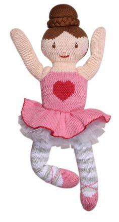 Eva Ballerina Handknit Cotton Doll | Zubels