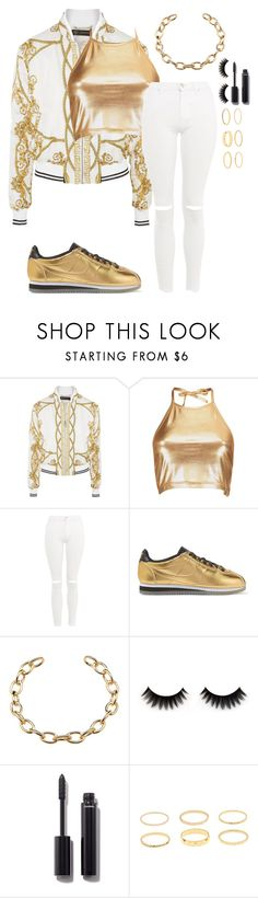 """""""Untitled #2647"""" by mfr-mtz ❤ liked on Polyvore featuring Versace, Boohoo, Topshop, NIKE and Chanel"""
