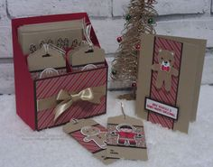 Crafty Christmas Countdown - Card and Tag Holder using Candy Cane Lane DSP - Intatwyne Designs Stampin Up Christmas, Christmas Gift Tags, Christmas Countdown, Xmas Cards, All Things Christmas, Holiday Cards, Diy Christmas, Christmas Tags Handmade, Christmas Tables