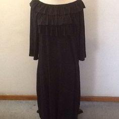 Black ruffled dress Black ruffled dress, size is large denim 24/7 Dresses