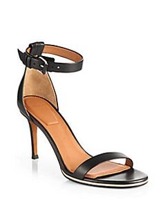 Givenchy - Leather Ankle Strap Sandals