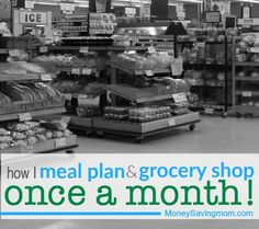 I've recently grown to love meal planning and grocery shopping for the whole month at once… and while that might seem overwhelming to some of you, today, I'd like to share a few tips for those of you interested in giving it a try!