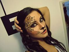 Sweet cheetah makeup! Definitely going to   do this for Halloween!