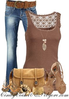 """Tank and Jeans Kinda Girl"" by cindycook10 on Polyvore"