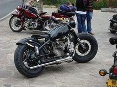 Thomas Koehle uploaded this image to inch CJ'. See the album on Photobucket. Bobber Bikes, Cool Motorcycles, Harley Davidson Motorcycles, Harley Bobber, Old Bikes, Sidecar, Scrambler, Sport Bikes, Custom Bikes
