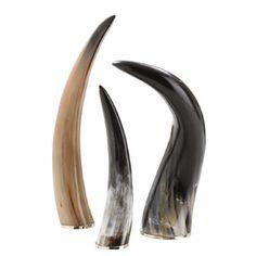 3-Piece Montana Horn Decor Set