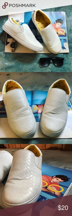 💥BOOM💥Slip on Braided Sneaker Casual Shoes Gently worn twice, in very good condition! Please refer to pictures for details. Shoes have carefully been cleaned with a rag+ warm water+tide. Imported. Bottom sole Labeled 44 Fits US 9.5 Fashion Shoes Loafers & Slip-Ons