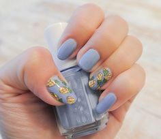 Le Nail Art Ananas #pineapple #exotic #essie