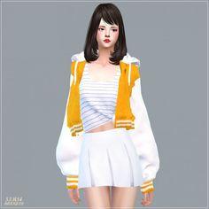SIMS4 Marigold: ACC_Loosefit Hood Jacket Short version • Sims 4 Downloads Check more at http://sims4downloads.net/sims4-marigold-acc_loosefit-hood-jacket-short-version/